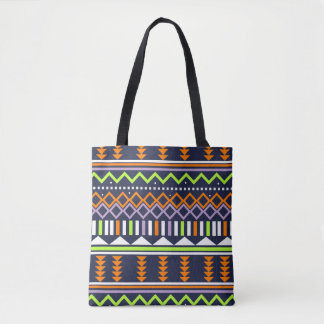 Tote Bag Orange, marine, forme de chaux