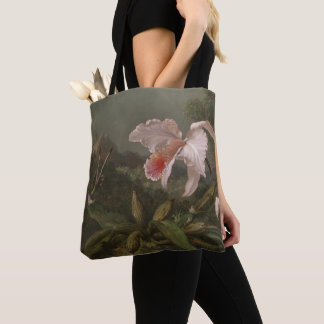 Tote Bag Orchidées et colibris de jungle