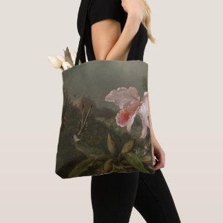 Tote Bag Orchidées et colibris de jungle