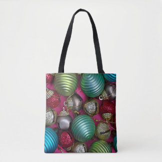 Tote Bag Ornements colorés de Noël