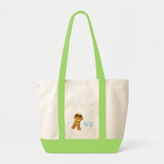 """Tote Bag """"Pain d'épice bronzage Girl™"""" avec des initiales"""
