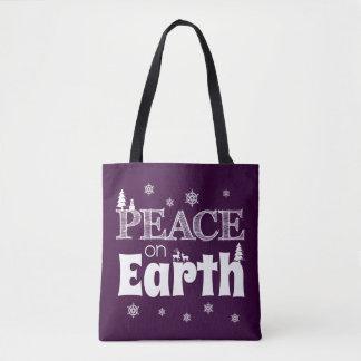 Tote Bag Paix sur Noël de la terre
