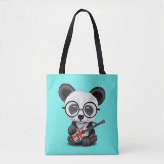 Tote Bag Panda de bébé jouant la guitare britannique de