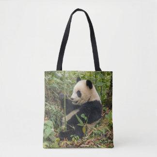 Tote Bag Panda mangeant le bambou