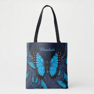 Tote Bag Papillon bleu de Morpho personnalisé
