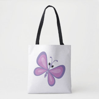 Tote Bag Papillon pourpre