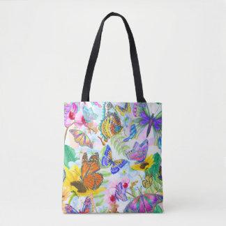 Tote Bag Papillons et fleurs