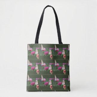 Tote Bag Papillons et Zinnias