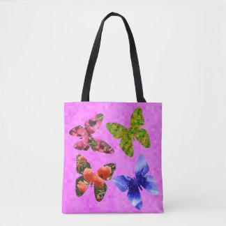 Tote Bag Papillons faits à partir des fleurs,