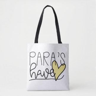 Tote Bag Para ont le coeur Fourre-tout