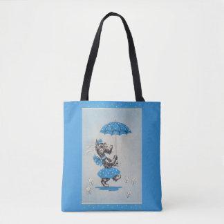 Tote Bag Parapluie de transport de dame de chien de Scottie