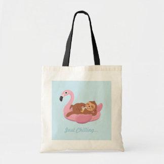 Tote Bag Paresse refroidissant l'été rose Fourre-tout de