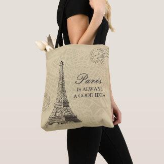 Tote Bag Paris est toujours une carte vintage de ville de