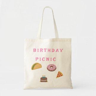 Tote Bag Partie de pique-nique d'anniversaire
