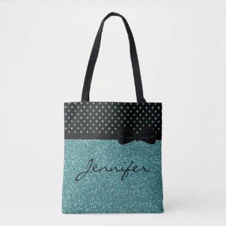 Tote Bag Parties scintillantes bleues d'Aqua élégant