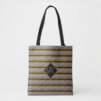 Tote Bag Parties scintillantes modernes de noir d'ARGENT