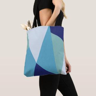 Tote Bag Pastel géométrique élégant de bleu marine et de