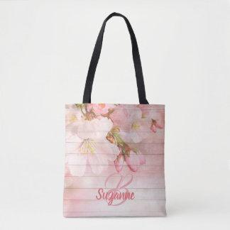 Tote Bag Pastel girly de fleurs de cerisier roses décorées