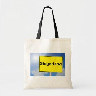 Tote Bag Pays de gagnant signe avec l'arrière-plan de ciel