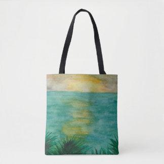 Tote Bag Paysage de coucher du soleil