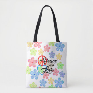 Tote Bag Peace and Love