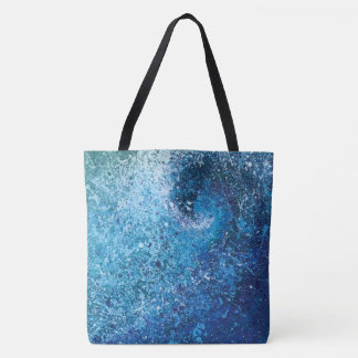 Tote Bag Peinture abstraite de beaux-arts de vague de plage