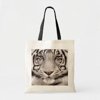 Tote Bag Peinture blanche de tigre