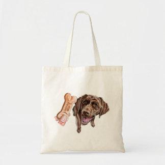 Tote Bag Peinture d'aquarelle de laboratoire de chocolat de
