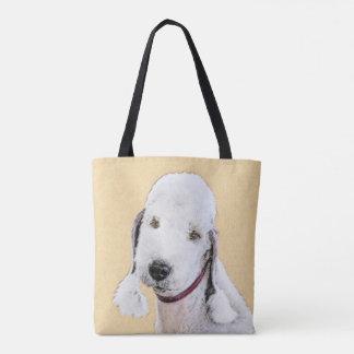 Tote Bag Peinture de Bedlington Terrier 2 - art original de