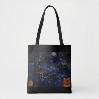 Tote Bag Peinture de bourse d'hiver de Halloween