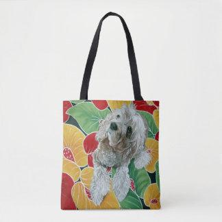 Tote Bag Peinture de chien de cocker de miel