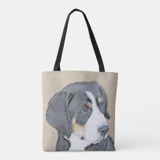 Tote Bag Peinture de chiot de chien de montagne de Bernese