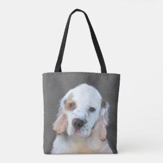 Tote Bag Peinture d'épagneul de Clumber - art original