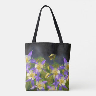 Tote Bag Peinture du Colorado Columbine bleu - art original