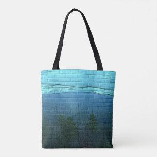 Tote Bag Peinture murale Fourre-tout de montagne de Smokey
