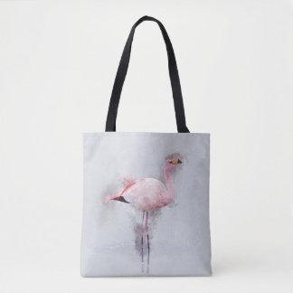 Tote Bag Peinture rose de flamant