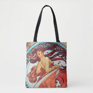 Tote Bag Peinture vintage de Nouveau d'art de danse