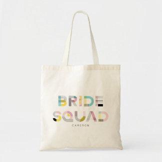 Tote Bag Peloton moderne de jeune mariée de typographie