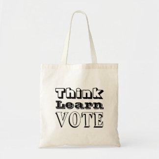 Tote Bag Pensez, apprenez, votez