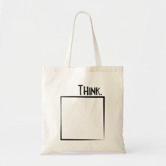 Tote Bag Pensez en dehors de la typographie de coquille de