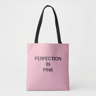 Tote Bag PERFECTION DANS le client ROSE