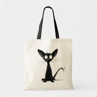 Tote Bag Petit chat oriental noir drôle