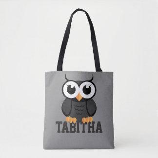 "Tote Bag ""Petit hibou noir """