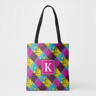 Tote Bag Petit monogramme au néon du motif | de Mlle