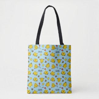 Tote Bag Petit motif de point turquoise de polka de Mlle