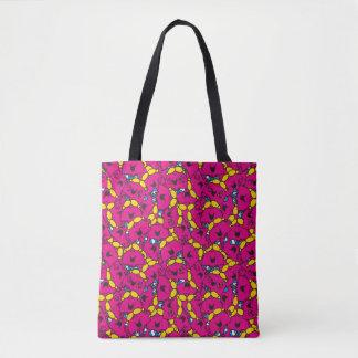 Tote Bag Petit motif rose lumineux de Mlle Chatterbox |