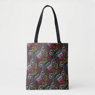 Tote Bag Petite Mlle Bad | motif noir, de rouge et de jaune