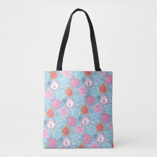 Tote Bag Petite Mlle le princesse | motif assez rose et