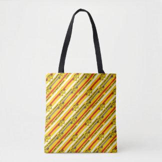 Tote Bag Petite Mlle Sunshine | rouge, motif jaune de