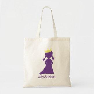 Tote Bag Petites filles assez pourpres de princesse